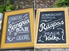 Signature Cocktail Signs - Texas DIY Real Wedding