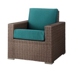 Heatherstone Wicker Patio Club Chair ($229) ❤ liked on Polyvore featuring home, outdoors, patio furniture, outdoor chairs, wicker club chair, patio club chair, outdoor wicker furniture, garden patio furniture and wicker patio chairs