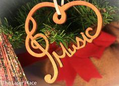 Laser Music Ornament