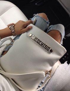 Moschino crossbody bag.