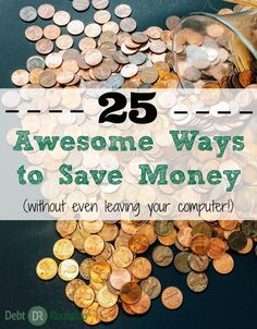 Do you spend a lot of time online shopping? Well, here are 25 awesome ways to save money each and every time you shop. You don't even have to get off your computer or phone. It's SO easy!! student debt payoff, #debt #college