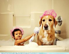 I LOVE this one! I wish Jackson would sit still in a bath to do this though! He just shakes the whole time poor guy!