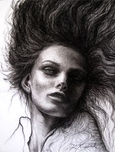 The Nocturne- Charcoal on Bristol paper