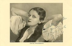https://flic.kr/p/d1t5uo | Genia Nikolaieva | German postcard by Ross Verlag, no. 7317/1, 1932-1933. Photo: Atelier Marion, Berlin. Collection: Didier Hanson.  Russian-born ballet dancer and actress Genia Nikolaieva (1904 – 2001) worked in the Germany cinema during the 1930's. In 1938 she emigrated to the United States, where she became 'one of the most beautiful studio secretaries for Warner Bros'.  For more postcards, a bio and clips check out our blog European Film Star Postcards.