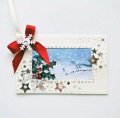 Luxury Handmade Winter Scene  Gift Tag 04