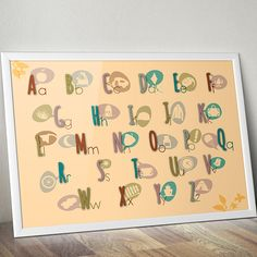 #letters #learn #poster you can order - DaWanda (http://de.dawanda.com/product/64052559-Druck-Alphabet)
