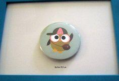 großer Button Eule  von ღKreawusel-Designღ auf DaWanda.com