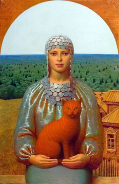 """Maher Art Gallery: Andrey Remnev/, Moscow                                              """"Vesta"""", 2007                                                   Oil on canvas."""