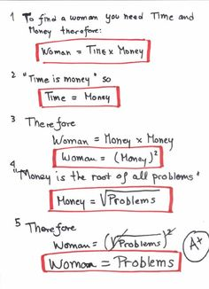 Einstein uses math to prove women are trouble