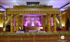 The Wedding Story Which Began With Love At First Sight! decided Sri Sai Vivaha Mahal in Coimbatore t Wedding Hall Decorations, Diy Wedding Backdrop, Marriage Decoration, Wedding Mandap, Wedding Reception, Arch Decoration, Wedding Entrance, Backdrop Decorations, Wedding Venues