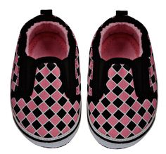 Pink Checker Baby Shoes