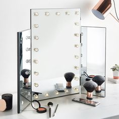 Trifold Hollywood Vanity Mirror Durable MDF development consolidates wonderful reflected boards and makes a show halting expansion to your room. Put essentially over a level surface, the mirror will change a modest bedroom set or basic dressing table into a showy focus piece.  You can look here and buy.