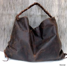 Brown Antiqued Leather Hobo Bag by Stacy Leigh di stacyleigh, $325.00