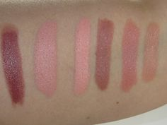 NYX Simply Nude Lip Cream Swatches (Sable, Peaches, Exposed, Disrobed, Fairest, Honey)