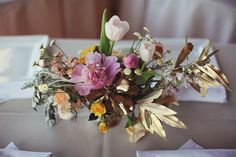 gorgeous gilded centerpieces