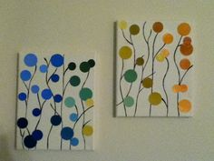 Very easy and cheap wall art. Check out my blog to see how I did it. Original pin under DIY.