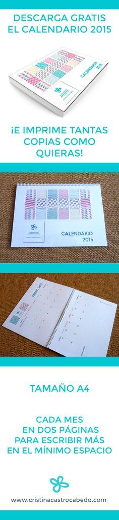 Descarga gratis tu calendario 2015. Ideal para imprimir y regalar. #calendario #2015 #gratis #imprimir #calendario 2015