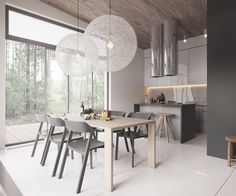 Roohome.com - Do arrangement your home with a minimalist design and combining a Scandinavian interior is very suitable for you. This minimalist home design looks perfect with a wooden and soft muted color such as white and gray color decor in it. The designer is designing this design which can ...