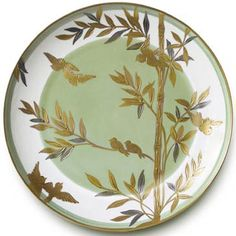 Envol Green Center Dinner Plate from Alberto Pinto in Yardley, PA from Pink Daisy