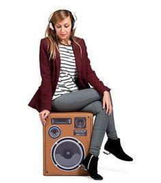 Ce pouf speaker est vintage comme je les aime :) #deco