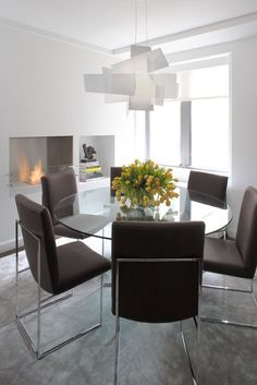 Magdalena Keck Interior design - UWS Pied à Terre, dining room.