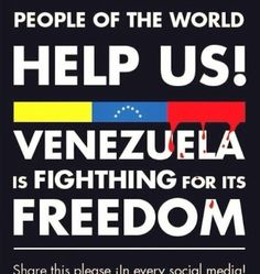SOS Venezuela This government is from Cuba. They are communist. The public media doesn't t broadcast the news about the deaths and the military  doesn't move a finger in favor of the people.  We are all locked out.