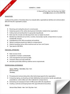 Waiter Resume Objective Easy Resume  Career Building  Pinterest  Resume Objective Sample .