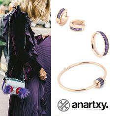 Días púrpura  #anartxy #JoyasEnAcero #JóiasEmAço #SteelJewel #BijouxEnAcier #estilo #style #joyas #jewelry #steel #acero #trend #tendencia