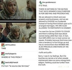 In case anybody wanna come saying that Islam is a sexist religion.<< Christianity is actually one of the more sexist religions :)))) Cultura General, Faith In Humanity Restored, Patriarchy, Equal Rights, My Tumblr, Social Issues, Social Justice, In This World, Equality