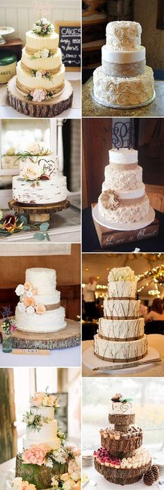 the best rustic wedding cake ideas