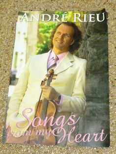 Andre Rieu 'Songs from My Heart' 2006 Concert Program Book & Tickets Cleveland
