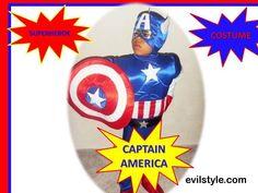 Halloween Costume Superheros CAPTAIN AMERICA Costume - Superhero Birthday Party Inspired Captain America Costume - http://evilstyle.com/halloween-costume-superheros-captain-america-costume-superhero-birthday-party-inspired-captain-america-costume