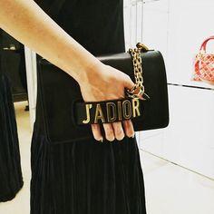 Our #editorspick from #DiorThailand #SS2017 collection -- J'Adior flap bag with chain in black calfskin. @duangposh #BAZAARthailand #harpersbazaarthailand #womensdior #Jadior via HARPER'S BAZAAR THAILAND MAGAZINE OFFICIAL INSTAGRAM - Fashion Campaigns Haute Couture Advertising Editorial Photography Magazine Cover Designs Supermodels Runway Models