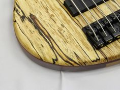 Spalted Birch / One of the latest basses I made is AVBS singlecut ...