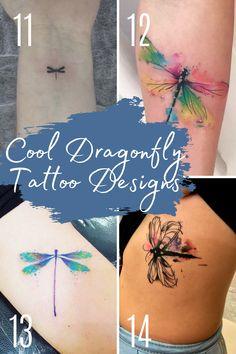 Cute Little Tattoos, Cute Small Tattoos, Tattoos For Kids, Random Tattoos, Awesome Tattoos, Watercolor Dragonfly Tattoo, Small Dragonfly Tattoo, Tattoo Addiction, Ink Addiction