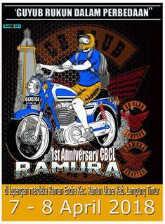 """INVITATION """" kepada All bikers Nusantara """"  ASPAL RAMURA LAMPUNG MEMANGGIL  1st Anniversary CBCL chapter Ramura Raman Endra Lampung Timur, 7 - 8 April 2018  Info Merchandise : @mokocbcl ( 085381429007 )  Info : acara : Sipan ( 081279244504 )  Info : Lapak : @erwan_dkomplong ( 082282613685 )  Info : Jalur : Rio ( 081270207138 )  Kami Tunggu kedatangan kalian  #salam_cbcl"""