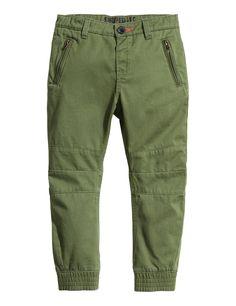 Twill Pants | Khaki green | Kids | H&M US