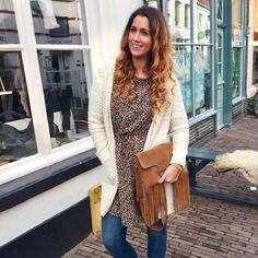 |Outfit from today 📸|   LEOPARD PRINT DRESS 🐆  Leather bag #cha Leopard dress #modstrom  Cardigan #mollybracken ✔ ~✘✘✘~ Syl #details #outfitoftheday #leopard #dress #modstrom #leather #bag #cha #cardigan #mollybracken #styling #stylist #fashionista #fashionblogger #blogger #boutique #krommestraat20 #033 #amersfoort #leukstestraatjevanamersfoort #ootd