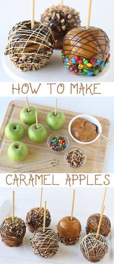 There are many different ways to decorate a caramel apple!