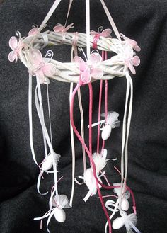 Pink and white butterfly twig garland by FavorsAndMorebyFiona, €3.50