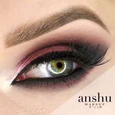 Feminine and dramatic, this 'Bitten Smoke' look by Anshu features Makeup Geek Eyeshadows in Bitten, Corrupt, Latte, and White Lies.