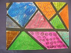 First graders compared the work of two famous artists, Piet Mondrian and Romero Britto. They are similar because their art both has bold l. Elementary Art Rooms, Art Lessons Elementary, Classroom Art Projects, Art Classroom, Classroom Ideas, Pop Art, Sargent Art, First Grade Art, Piet Mondrian