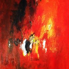 Red painting. Very fiery and passionate.