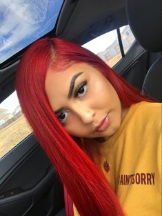 Women Pink Wigs Lace Front Hair Korean Pink Hair Dark To Light Pink Hair Pink Red Wig – cressral Red Weave Hairstyles, Frontal Hairstyles, Straight Hairstyles, Blonde Hairstyles, Hairstyles Videos, Remy Human Hair, Human Hair Wigs, Remy Hair, Hair Colorful