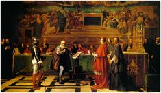 Galileo, often referred to as the father of modern science, struggled with religious leaders who stood in the way of the advance of science. Galileo taught the heliocentric system in which the Sun is the center of the solar system, contrary to Holy Scripture.  Galileo was found guilty at the Inquisition, June 1633, and spent the remainder of his life in house arrest.