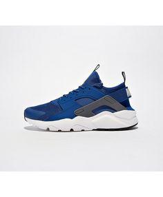 more photos c4944 7eb27 Nike Air Huarache Run Ultra Chaussures Bleu Blanc