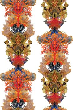 Timorous Beasties - Grand Blotch Damask Fabric    #fabric, #upholstery, #drapery