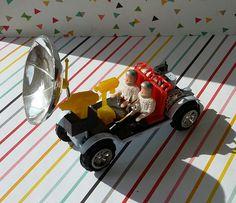 Vintage 1970s Radar Car Rack Toy (Moon Buggy)