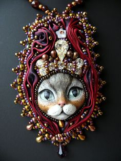 Bead embroidered Pendant...