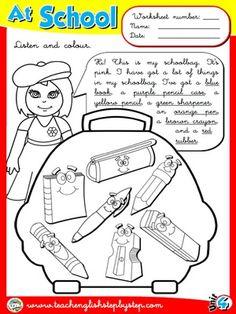 At School - Worksheet 7
